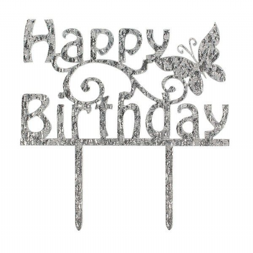 Happy Birthday Butterfly Cake Topper